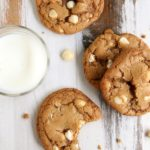 Toffee White Chocolate Macadamia Nut Cookies | completelydelicious.com