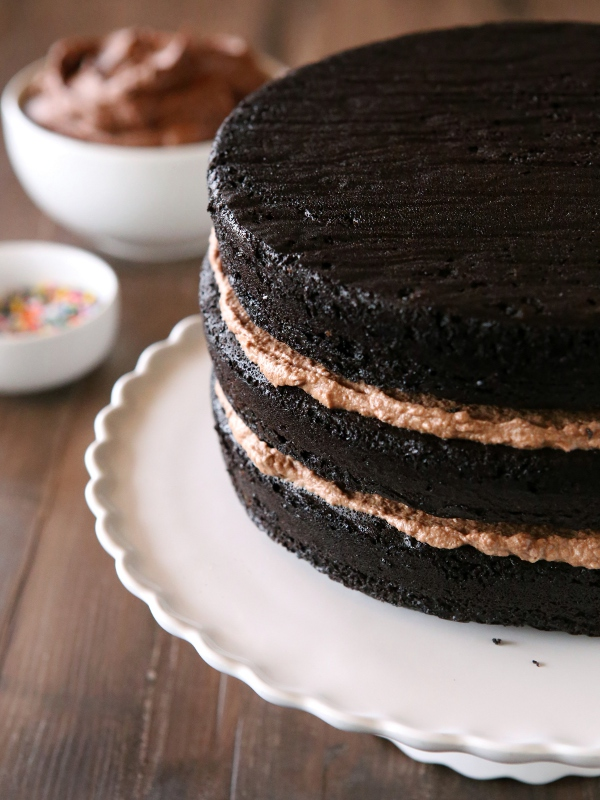 Chocolate Fudge Layer Cake from completelydelicious.com
