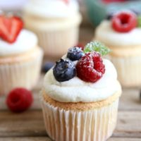 Angel Food Cupcakes | completelydelicious.com