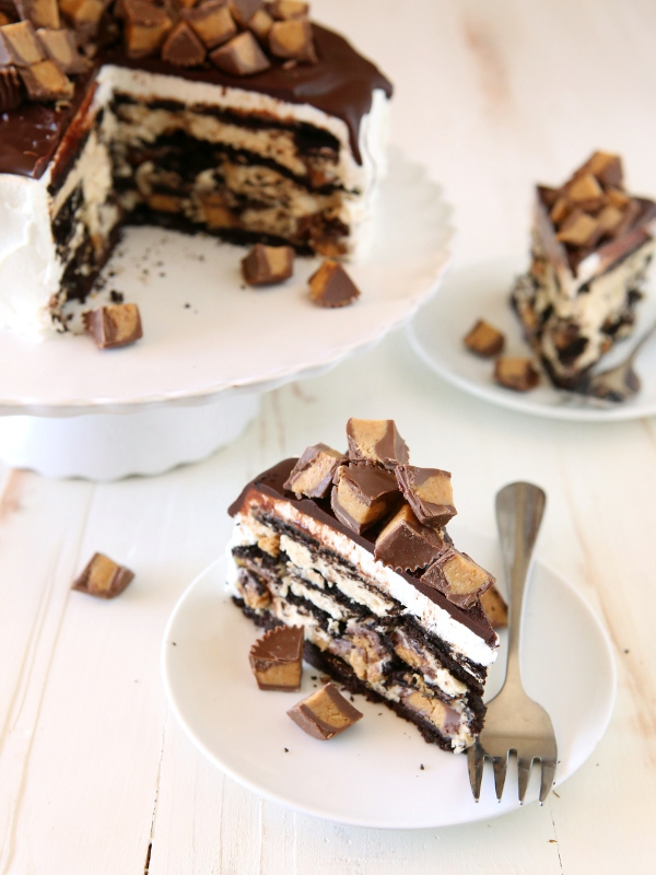 Reese's Chocolate Peanut Butter Icebox Cake | completelydelicious.com