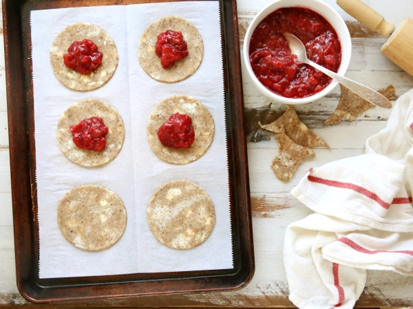 Strawberry Rhubarb Hand Pies with Pecan Crust | completelydelicious.com