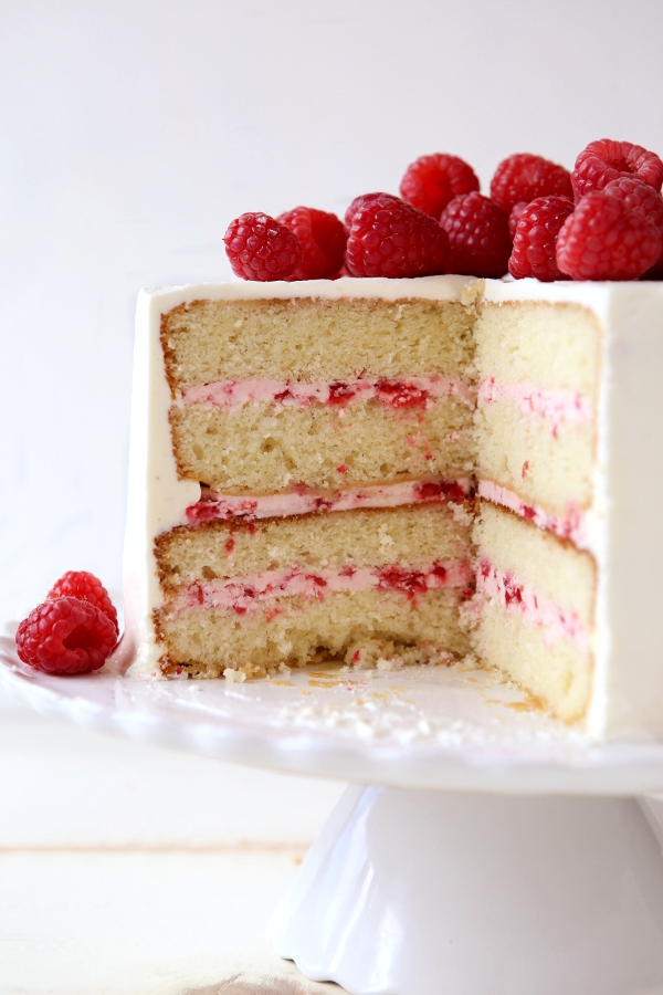 Incredible Raspberry White Chocolate Layer Cake Completely Delicious Funny Birthday Cards Online Inifodamsfinfo