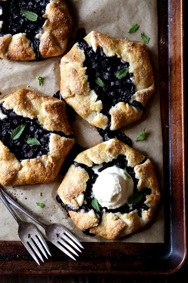 Mini Blueberry Galettes | completelydelicious.com