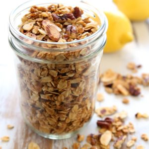 Nutty Lemon Granola | completelydelicious.com