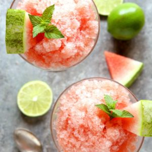 Watermelon Lime Granita | completelydelicious.com