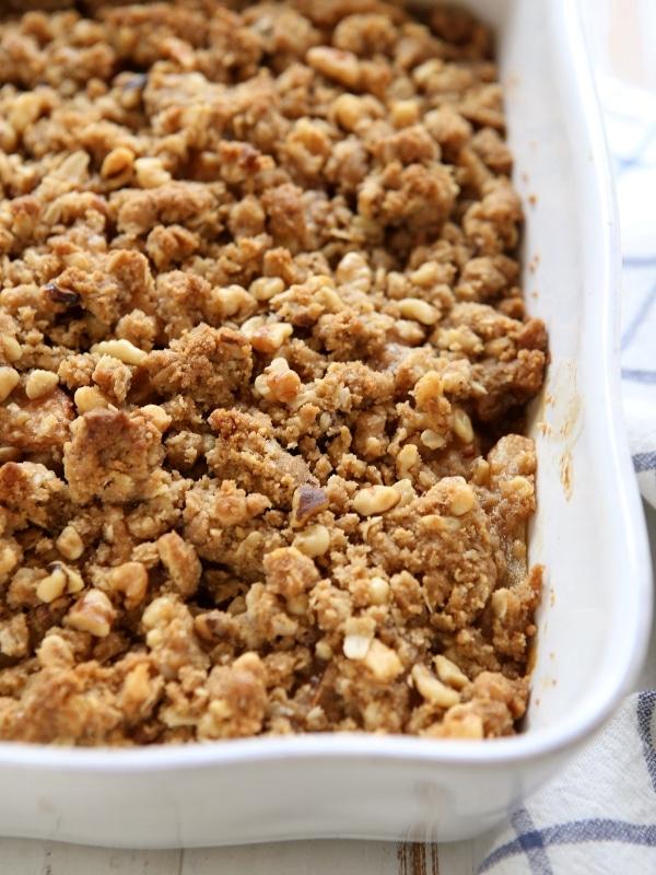 Pear Walnut Crisp | completelydelicious.com