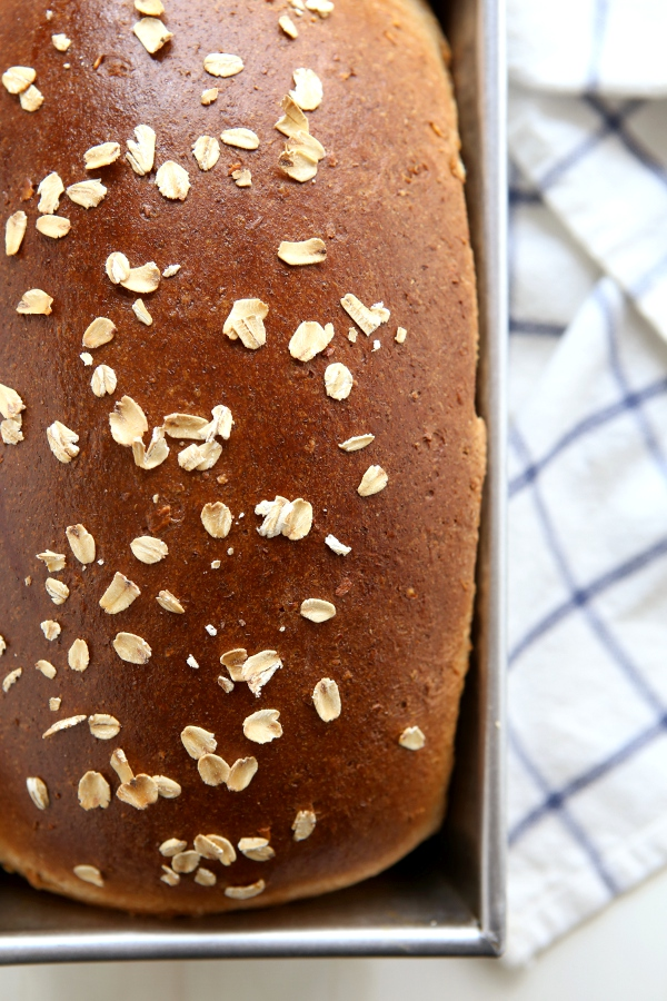 Honey Whole Wheat and Oat Sandwich Bread   completelydelicious.com
