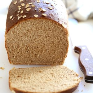 Honey Whole Wheat and Oat Sandwich Bread | completelydelicious.com