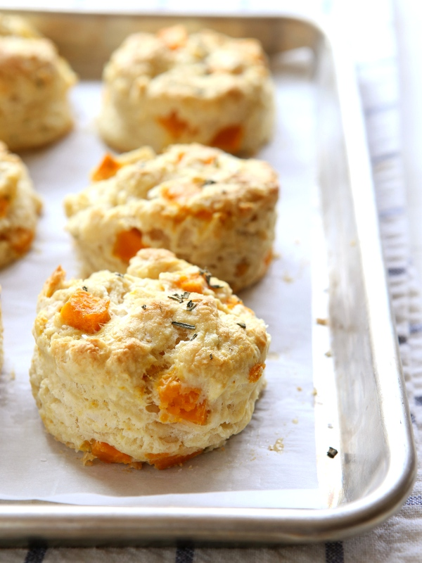Butternut Squash and Rosemary Biscuits | completelydelicious.com