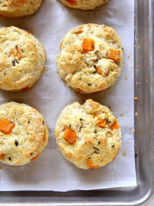butternut squash rosemary biscuits 5