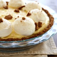 Eggnog Cream Pie | completelydelicious.com