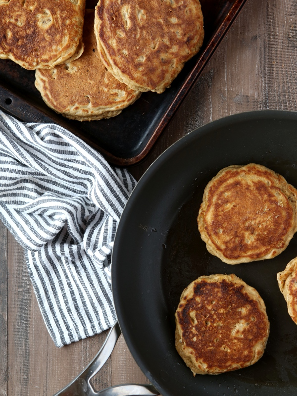 Whole Wheat Banana Nut Pancakes | completelydelicious.com
