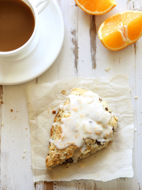 Chocolate Orange Ricotta Scones | completelydelicious.com