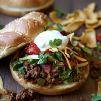 Taco Sloppy Joes! from completelydelicious.com