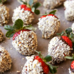 You're just three ingredients away from these chocolate hazelnut covered strawberries. They're the easiest, most decadent treat!
