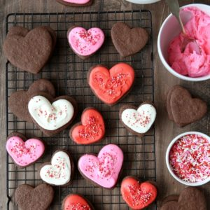 Chocolate Sugar Cookies | completelydelicious.com