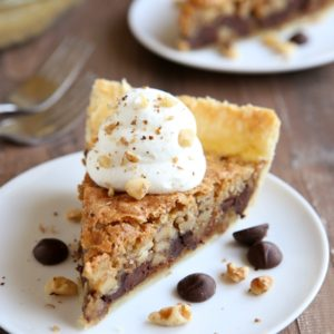 Tollhouse Chocolate Chip Pie | completelydelicious.com