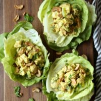 Curried Chicken Salad Lettuce Cups | completelydelicious.com