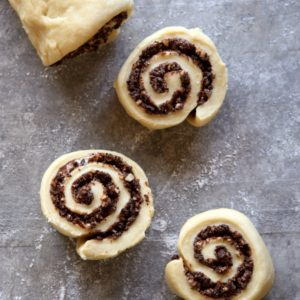 Chocolate Hazelnut Sweet Rolls | completelydelicious.com