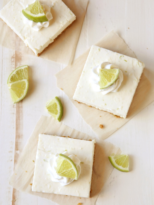 No-bake Lime Cheesecake Bars | completelydelicious.com