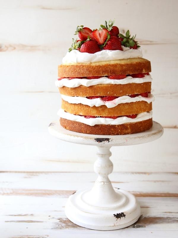 Strawberry Shortcake Layer Cake | completelydelicious.com