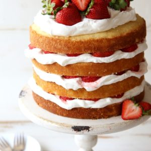 Strawberry Shortcake Layer Cake | completelydelicious.com
