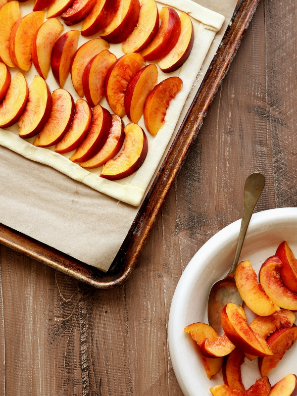 Easiest Nectarine Puff Pastry Tart | completelydelicious.com