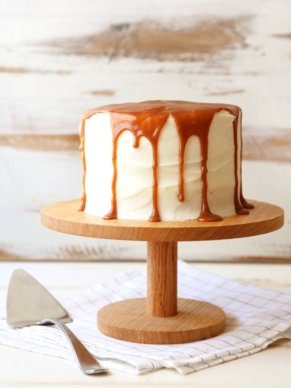 Zucchini Caramel Cake with Cream Cheese Frosting | completelydelicious.com