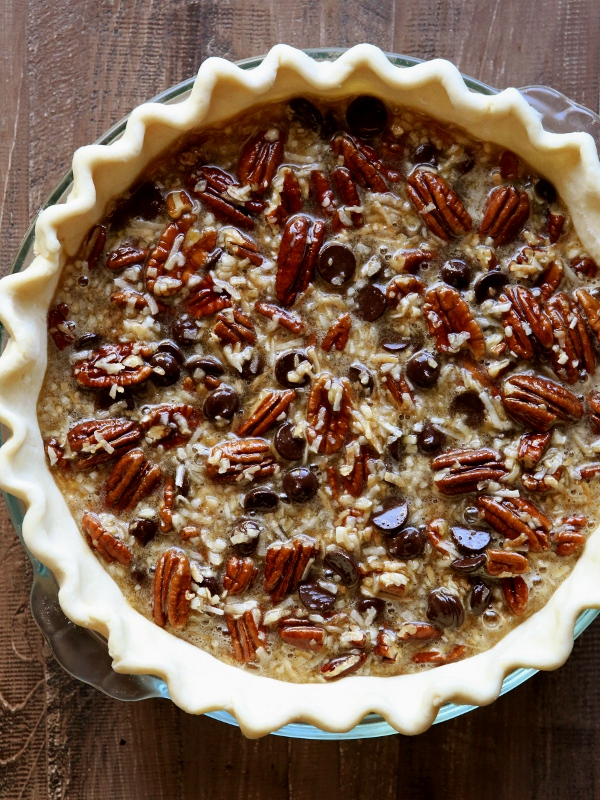 Chocolate Coconut Pecan Pie from completelydelicious.com