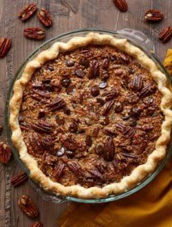 Chocolate Coconut Pecan Pie from completelydelicious.com