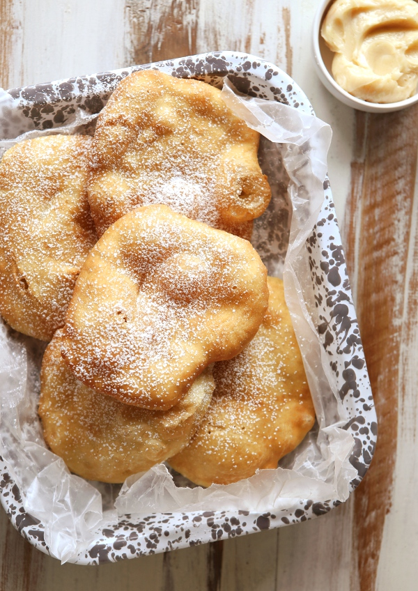Fry Bread with Cinnamon Honey Butter | completelydelicious.com