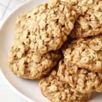 The BEST chewy oatmeal cookies, from completelydelicious.com