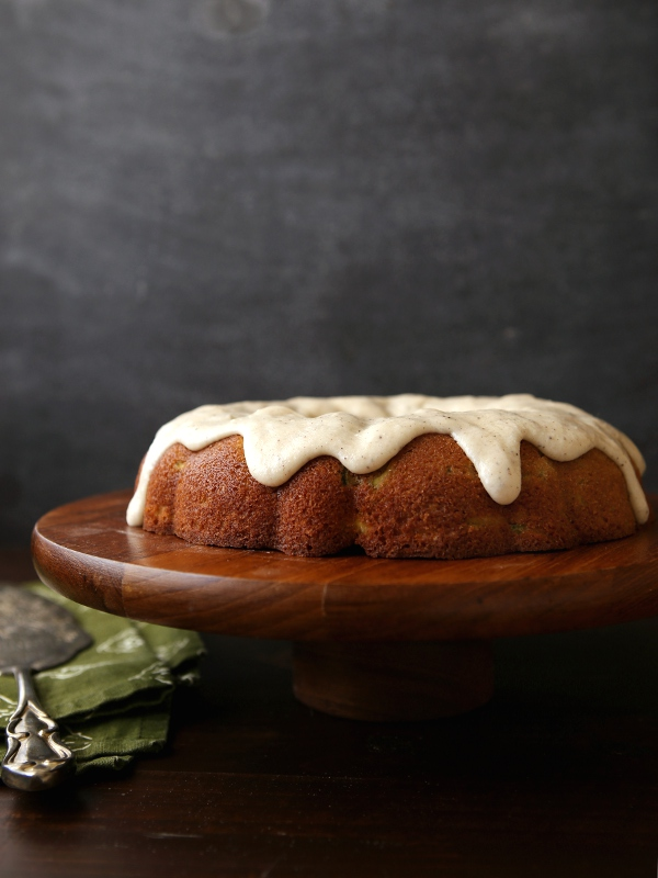 Spiced Zucchini Pear Cake with Brown Butter Glaze | completelydelicious.com