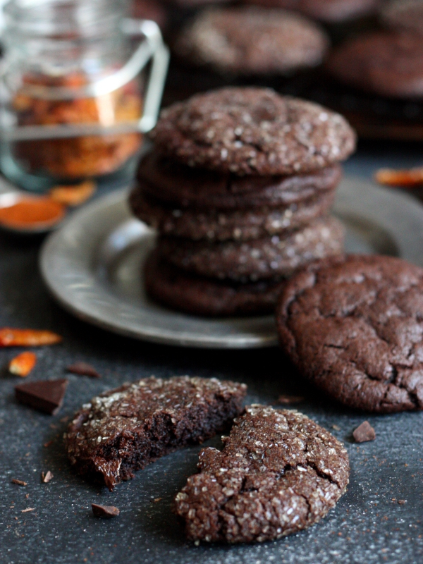 Spicy Chili Chocolate Cookies Completely Delicious
