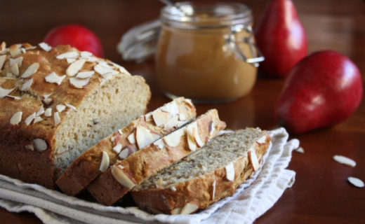Almond Bread with Caramel Pear Butter