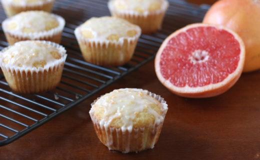 Pink Grapefruit Cupcakes