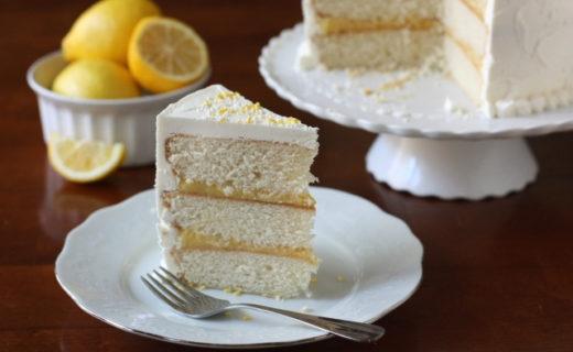 Vanilla Lemon Layer Cake