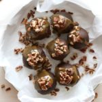 Turtle Cookie Truffles with pecans, caramel and chocolate | completelydelicious.com