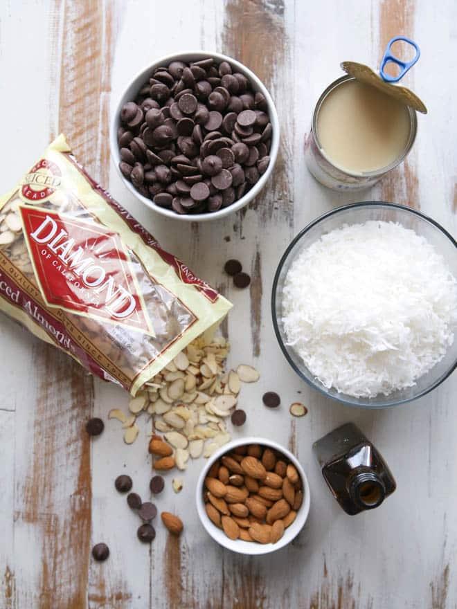 Coconut Almond Fudge | completelydelicious.com