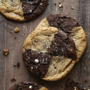 Malted Chocolate Chip and Reverse Chip Cookies | completelydelicious.com
