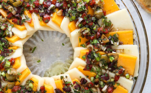 Marinated Cheese Wreath