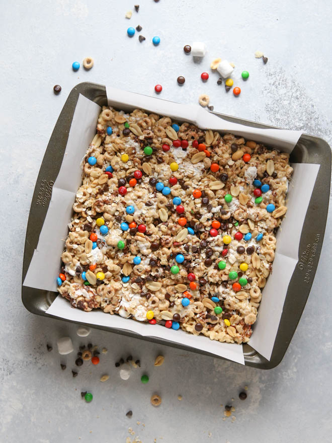 Monster Marshmallow Cereal Treats from completelydelicious.com