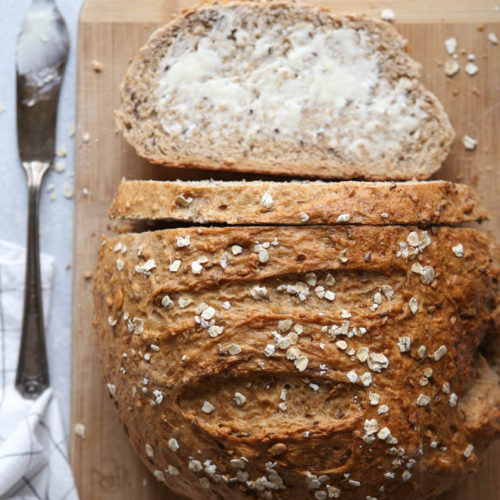Multigrain Bread Loaf | completelydelicious.com