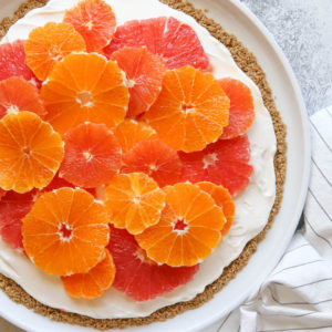 Citrus and Yogurt Fruit Pizza with Granola Crust | completelydelicious.com