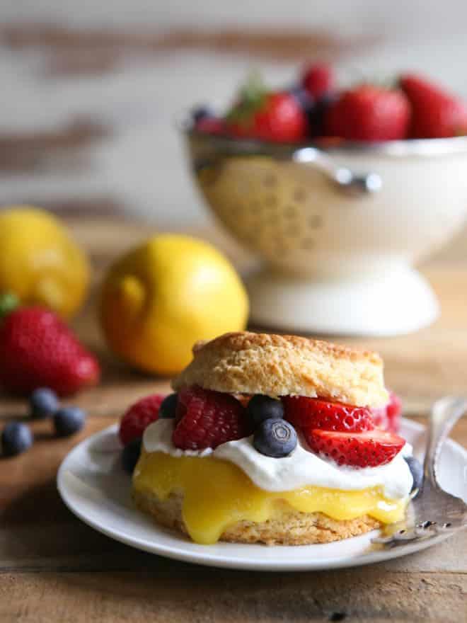 Lemon Berry Shortcakes | completelydelicious.com
