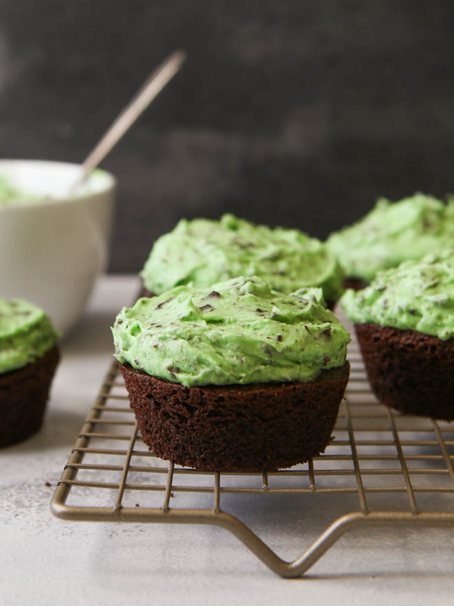 Mint Chocolate Chip Cupcakes | completelydelicious.com