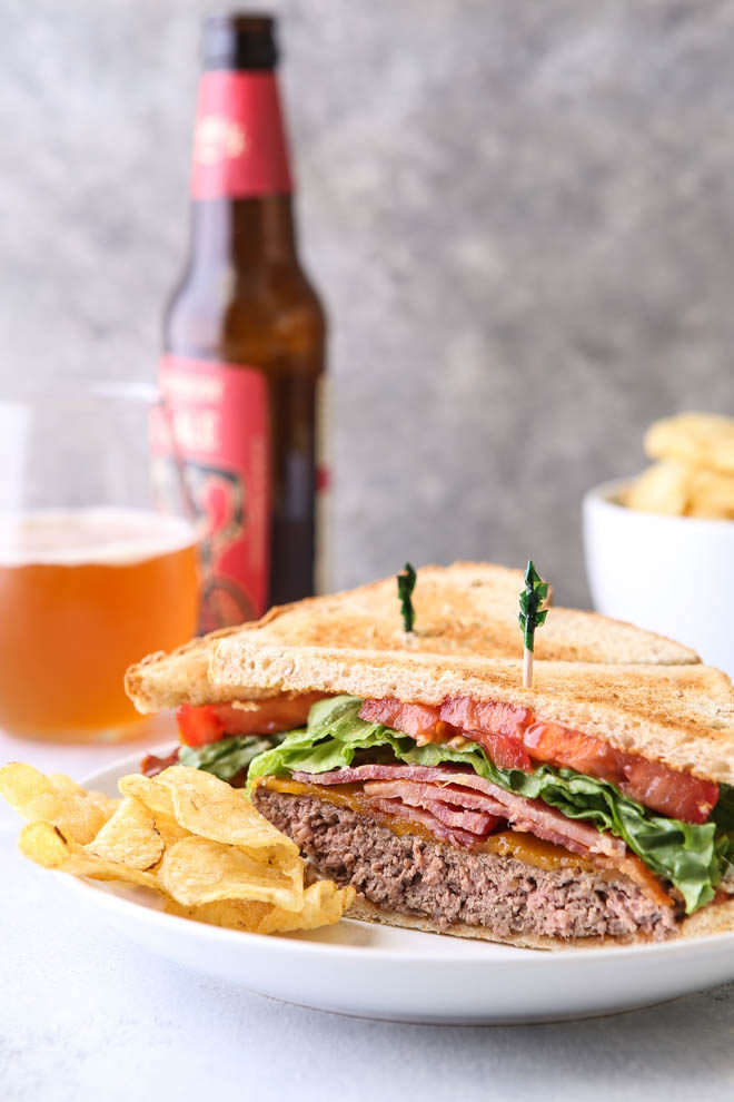 Cheeseburger meets BLT in this fun summer mashup
