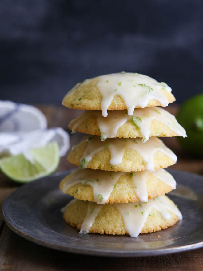 Cornmeal lime cookies are easy and tart with a fun texture!