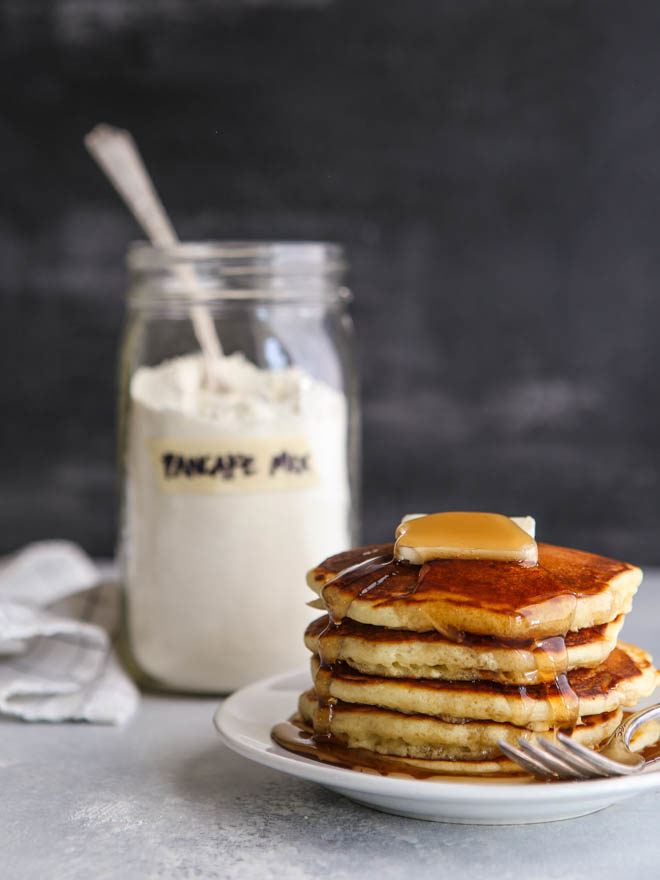 Homemade buttermilk pancake mix makes breakfast a breeze!