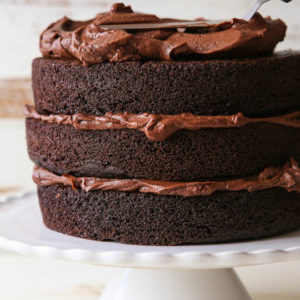 Learn how to build a layer cake on completelydelicious.com